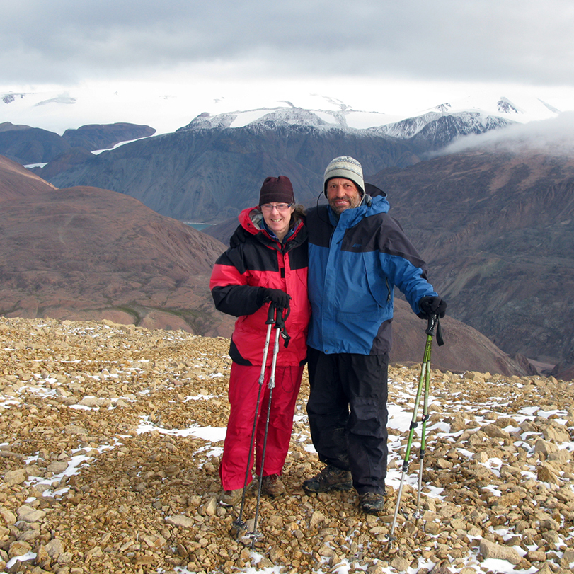 Liz and Manrico on Ellesmere Island.
